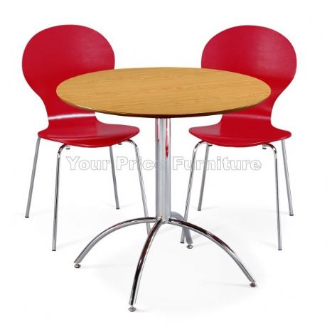 Kimberley Dining Set Natural & 2 Red Chairs Sale Now On Your Price Furniture